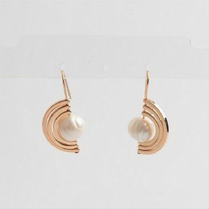 Tory Burch Gold/Pearl Spinning Earrings